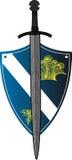Protetor com espada sobre Imagens de Stock Royalty Free