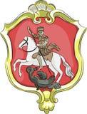 Protetor com o emblema Fotografia de Stock Royalty Free