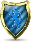 Protetor com um leão Imagens de Stock