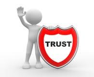Protetor. Confiança ilustração royalty free