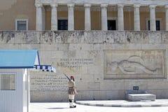 Protetor da guarda nacional de Grécia foto de stock