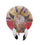 Protetor da guerra do nativo americano isolado imagem de stock royalty free