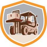 Protetor da logística da manipulação de materiais do caminhão de empilhadeira ilustração royalty free