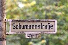 Protetor da rua nomeado após o músico Robert Schumann Imagem de Stock Royalty Free