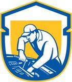 Protetor de Automobile Car Repair do auto mecânico retro Imagens de Stock Royalty Free