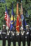 Protetor de cor dos aspirantes de marinha, Academia Naval do Estados Unidos, Annapolis, Maryland Imagem de Stock Royalty Free