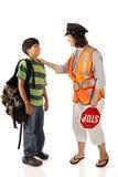 Protetor de cruzamento amigável da vizinhança Foto de Stock Royalty Free