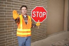 Protetor de cruzamento na escola Imagens de Stock