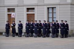 Protetor de honra do castelo de Praga Imagens de Stock