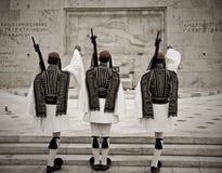 Protetor de honra em Atenas Foto de Stock
