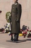 Protetor de honra em um monumento Imagens de Stock