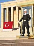 Protetor de honra no mausoléu de Ataturk, Ancara Imagem de Stock