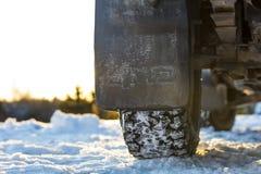 Protetor de respingo do carro da movimentação de quatro rodas em Finlandia Fotos de Stock Royalty Free