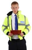 Protetor de segurança com uma prancheta Fotografia de Stock