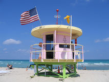 Protetor de vida de Miami Beach Florida Foto de Stock Royalty Free