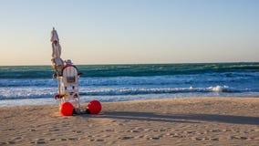 Protetor de vida em uma praia Fotos de Stock
