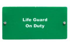 Protetor de vida no dever Imagem de Stock