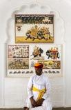 Protetor do forte de Mehrangarh, Rajasthan imagem de stock royalty free
