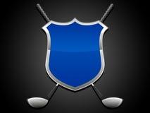 Protetor do golfe ilustração stock