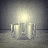 protetor do metal 3d Imagens de Stock Royalty Free