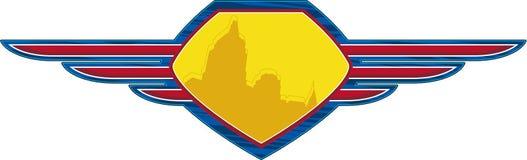 Protetor do super-herói dos desenhos animados ilustração do vetor