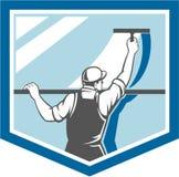 Protetor do trabalhador da arruela do líquido de limpeza de janela retro ilustração royalty free