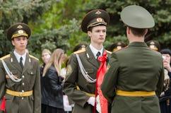 Protetor dos jovens dos cadete dentro da honra Foto de Stock Royalty Free
