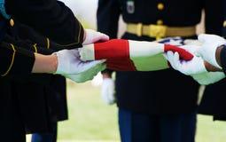 Protetor e bandeira de honra Imagem de Stock