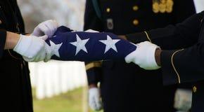 Protetor e bandeira de honra fotografia de stock royalty free