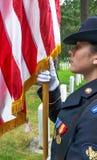 Protetor e bandeira de honra Fotos de Stock Royalty Free