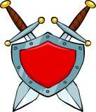 Protetor e espadas Foto de Stock Royalty Free