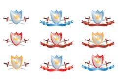 Protetor e espadas Imagem de Stock