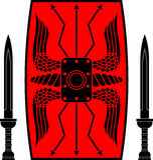 Protetor e espadas antigos Imagens de Stock Royalty Free