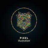 Protetor - ilustração do pixel Imagens de Stock