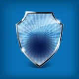 Protetor lustroso da segurança ilustração do vetor