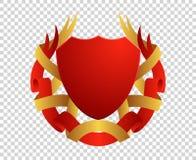 Protetor medieval Brasões Rei e reino Emblema da concessão do vetor ilustração royalty free