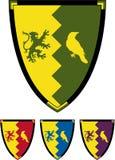Protetor medieval dos cavaleiros ilustração royalty free