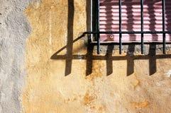 Protetor metálico da janela para a proteção da casa Foto de Stock Royalty Free