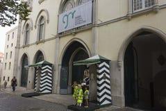 Protetor na frente do protetor republicano nacional em Lisboa Foto de Stock Royalty Free