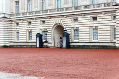 Protetor no Buckingham Palace foto de stock royalty free