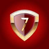 Protetor no ouro com símbolo do alfabeto Imagem de Stock