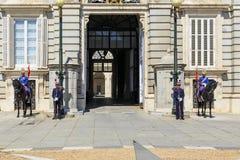 Protetor no palácio real no Madri Imagens de Stock