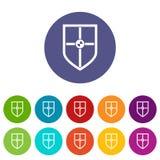 Protetor para ícones ajustados da luta Imagens de Stock Royalty Free