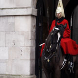 Protetor real no cavalo Imagem de Stock