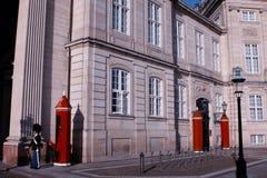 Protetor real no quadrado no castelo de Amalienborg, Copenhaga, antro Fotografia de Stock