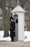 Protetor real norueguês perto de Royal Palace, Oslo Imagem de Stock Royalty Free
