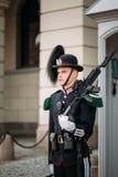 Protetor real que guarda Royal Palace em Oslo, Noruega Fotos de Stock