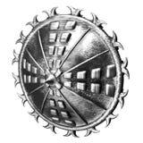 Protetor redondo de aço ilustração stock