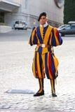 Protetor suíço de Cidade Estado do Vaticano Fotografia de Stock Royalty Free