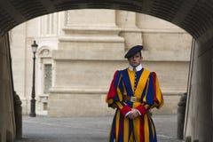 Protetor suíço do Vaticano Imagem de Stock